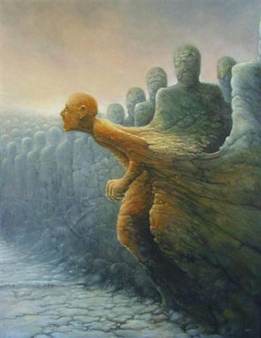 Tomasz Alen Kopera Deserter-28x36-oil-on-canvas-2004